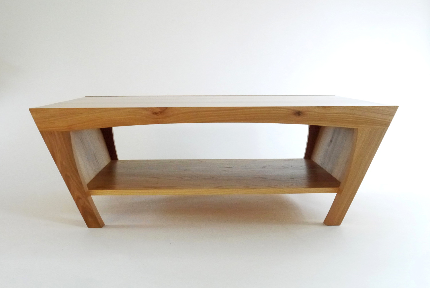 Trapezoid coffee table real wood studios for Trapazoid table