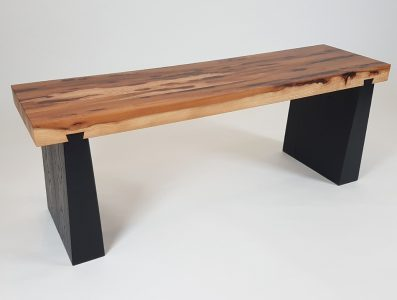 Scorched Ash and Elm Bench